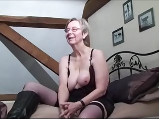 Breasted grandma anal fucked by BBC while hubby recording