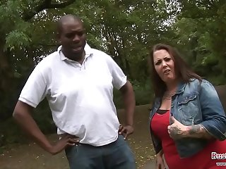 Hot BBW outdoor riding black cock (here is the complete video link...
