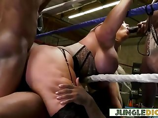 Mature Blonde Reporter Gangbanged By Black Boxers  Alura Jenson