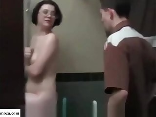 Mom and son fuck in the toilet  Sexmoza.com