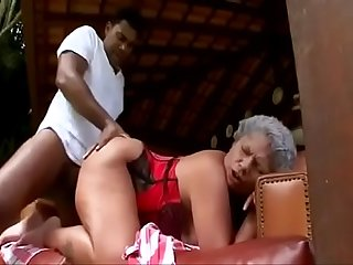 Old slut fucked by BBC