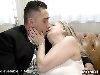 Saggy Titted Granny Fucks A Handsome Young Guy