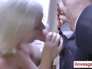 Lacey let her boss Paul stuff her butthole and pounded it