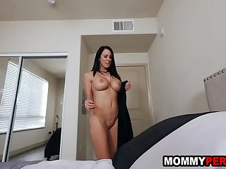Step mom wakes up son to tell him about her kinky idea  family taboo