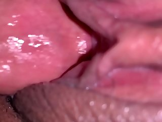 Ebony gets creamed while sleeping