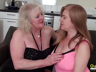 OldNannY Two mature Lesbians Playing with Toys