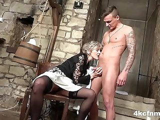 Granny is the Dungeon Master of Blowjobs