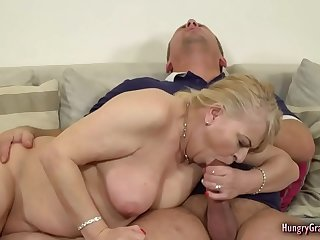 Bigtitted blonde GILF fucked hard