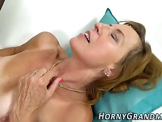 Cock riding granny spunk