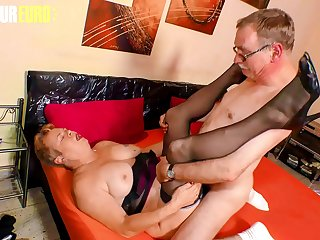 AMATEUR EURO  German Granny Susanne H. Fucks With Horny Hubby