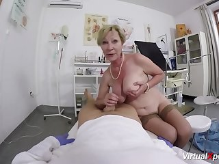 big boob hairy grandma fucked by her doctor