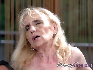 Slutty granny sucking and riding