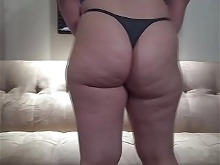 PAWG in Thong Panties Hot Booty Thick Chubby Girl