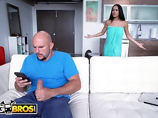 BANGBROS  Jmac Spies On His Busty Stepmom Victoria June In The Shower