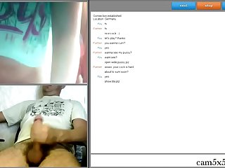She is very excited in webcam, cam5x5.com