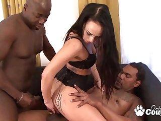Lilith Virago Slides 2 Hard Dicks Inside Her Butthole