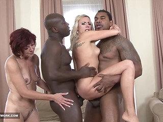 Matures In Hardcore Interracial Group Sex Facial Cum