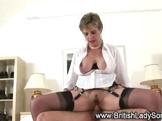 Sexy mature Lady Sonia cumshot