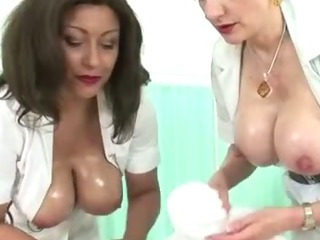 Busty mature femdom nurses