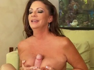 Slutty MILF Sucks Sons Friends Big Cock