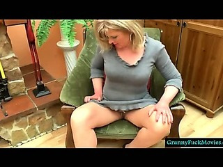 This is one horny granny who likes to masturbate for you