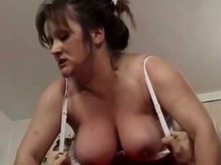 Chubby grandma pounding