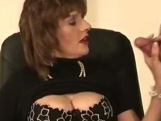 Mature british slut tied up blowjob cumshot action