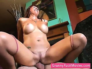 Nasty grandmother gets fucked harder