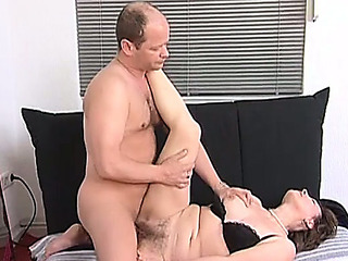 Luscious aged brunette hair Monica receives her curly wet crack deeply screwed
