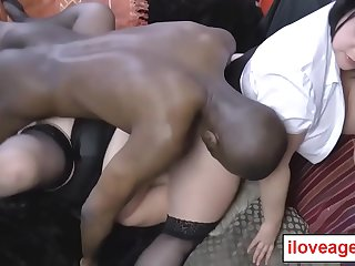 Black guy pounded Lacey'_s twat, while Lacey eat out Sarah'_s clit