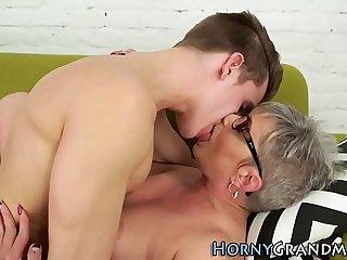 Foot worshipped granny