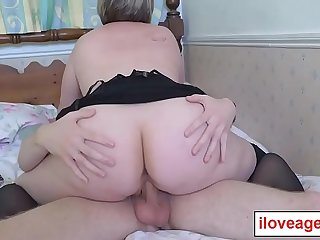 Shooting Star played on Chris'_ huge cock in her mouth and pussy